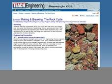 Making & Breaking : The Rock Cycle Lesson Plan