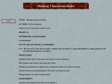 Making Classroom Rules Lesson Plan