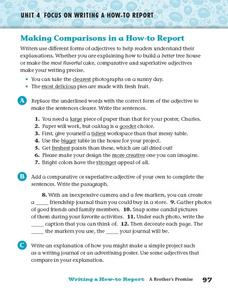 Making Comparisons in a How-to Report Worksheet