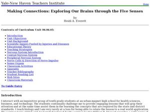 Making Connections: Exploring Our Brains through the Five Senses Lesson Plan