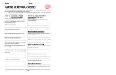 Making Healthful Choices Lesson Plan