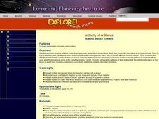 Making Impact Craters Lesson Plan