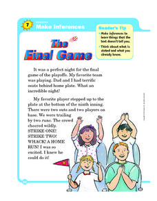 Making Inferences: The Final Game Worksheet