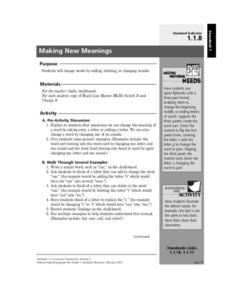 Making New Meanings Lesson Plan