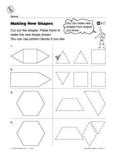 Making New Shapes Worksheet