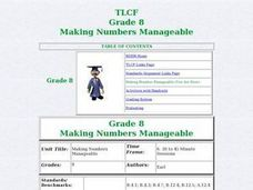 Making Numbers Manageable Lesson Plan