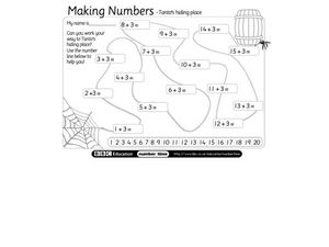 Making Numbers: Tanto's Hiding Place Worksheet