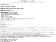 MAKING PAPER FROM PAPER Lesson Plan