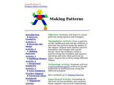 Making Patterns Lesson Plan
