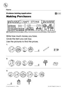 Making Purchases Worksheet