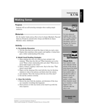 Making Sense Lesson Plan