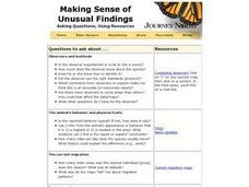Making Sense of Unusual Findings Lesson Plan