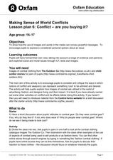 Making Sense of World Conflicts: Conflict-Are You Buying It? Lesson Plan