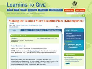 Making the World A More Beautiful Place: Earth Day Lesson Plan