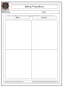 Making Things Move Worksheet