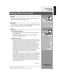 Making Words From Sounds Lesson Plan