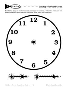 Making Your Own Clock Worksheet