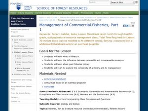 Management of Commercial Fisheries Lesson Plan