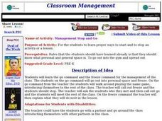 Management Stop and Go Lesson Plan