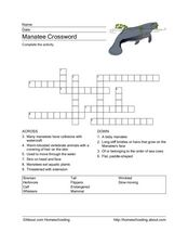 Manatee Crossword Worksheet