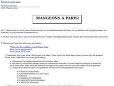 Mangeons a Paris! Lesson Plan
