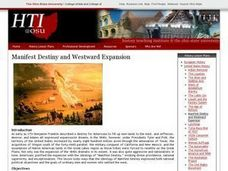 Manifest Destiny and Westward Expansion Lesson Plan