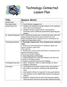 Manners Matter Lesson Plan