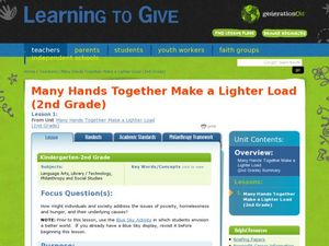 Many Hands Together Make a Lighter Load Lesson Plan