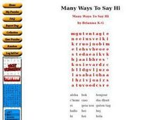 Many Ways To Say Hi Worksheet