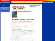 Map Native American Territories Lesson Plan