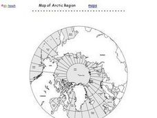Map of Arctic Region Worksheet