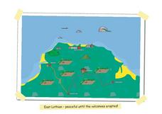 Map of East Lothian in Scotland Worksheet