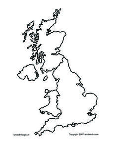 Map of United Kingdom and Ireland Worksheet
