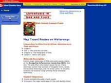 Map Travel Routes on Waterways Lesson Plan