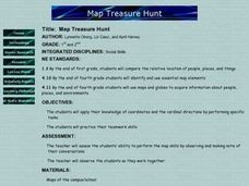 Map Treasure Hunt Lesson Plan