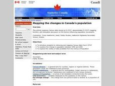 Mapping the changes in Canada's population Lesson Plan