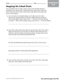Mapping the School Picnic - Enrichment 16.5 Worksheet
