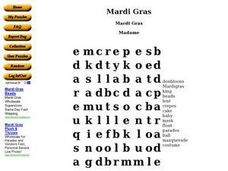 Mardi Gras 2 Worksheet