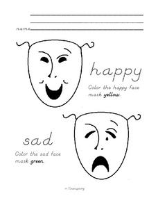 Mardi Gras Masks Worksheet