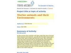 Marine Animals And Their Environments Lesson Plan