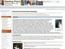 Marine Environmental Geology Lesson Plan