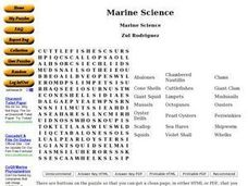 Marine Science Worksheet