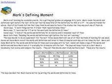 Mark's Defining Moment Worksheet