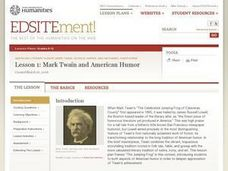 Mark Twain and American Humor Lesson Plan