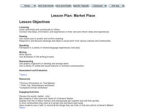 Market Place Lesson Plan