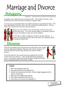 Printables Divorce Worksheet marriage and divorce 6th 7th grade worksheet lesson planet worksheet