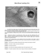 Mars Rover Landing Site Worksheet