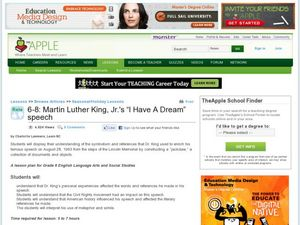 Martin Luther King, Jr's, I Have A Dream Speech Lesson Plan