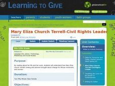Mary Eliza Church Terrell -- Civil Rights Leader Lesson Plan