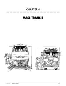 Mass Transit Lesson Plan